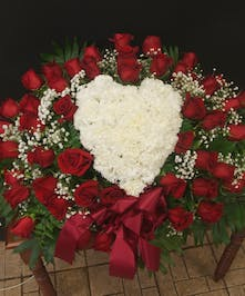 Heart Pillow of Roses/Carnations