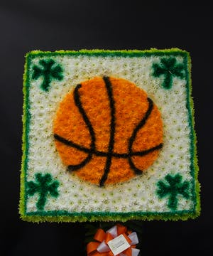 Basketball with 4 Leaf Clover