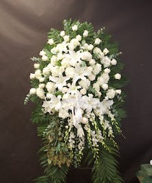 All in White rose and lily tribute