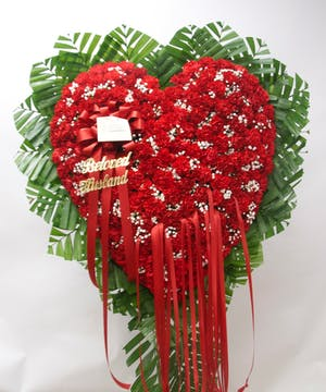 Heart of Red Carnations