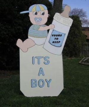Baby Boy Lawn Announcement