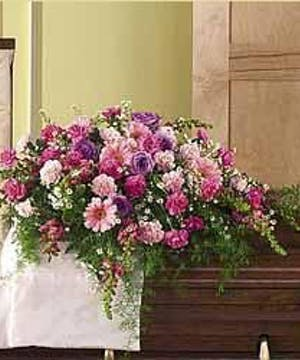 Casket Lid Cover in Shades of Pink