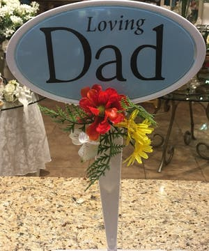 Loving Dad Placque