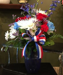 Red White And blue Vase