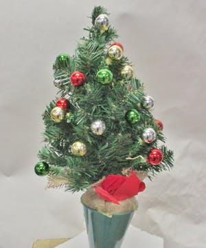 Standard Christmas tree in a cone