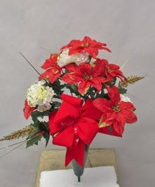 Poinsettia  and Carn Cone
