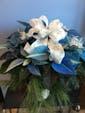 Blue Poinsettia shown