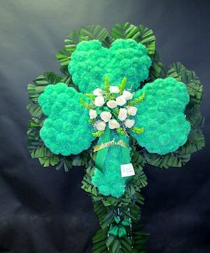 Shamrock with White rose overlay