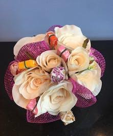 Hot Pink Silk Candy Bouquet