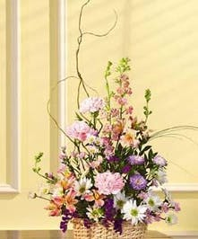 Soft Pastel Mixture of Flowers
