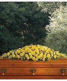 Casket Cover Golden Garden