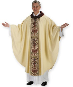 Coronation Vestment with Cowl Neck
