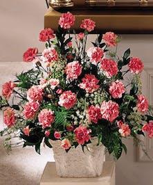 Floor Basket Tribute of Pink