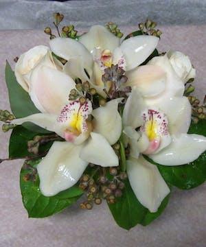 Cymbidium and roses