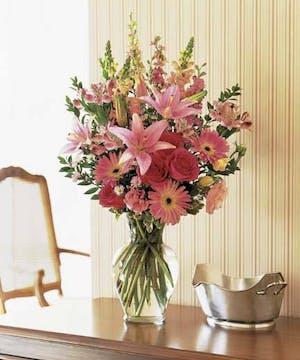 Field Beauty of Pink Flowers
