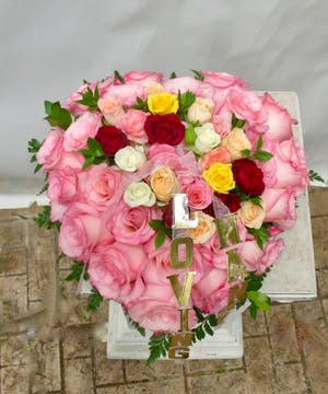 Casket Rose Heart