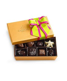 Assorted Chocolate Gold Gift Box, Spring Ribbon, 36 pc.